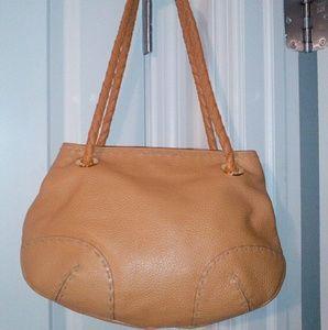 Desmo orange leather bag